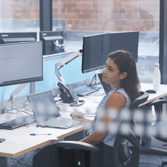 Image of employee in office